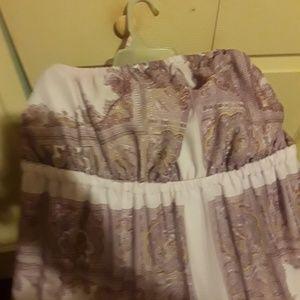 Womens strapless plus size Maxi dress